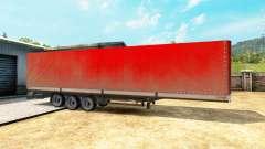 Laterais de cortina semi-reboque Kogel para Euro Truck Simulator 2