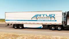 Pele Artur Express no trailer para American Truck Simulator