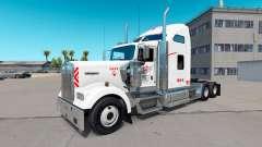 Pele Heartland Express, [branco] caminhão Kenworth para American Truck Simulator