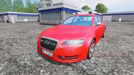 Audi A6 (C6) [feuerwehr] para Farming Simulator 2015