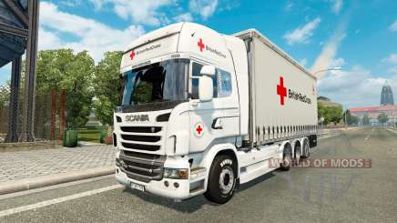 Scania R730 Tandem British Red Cross para Euro Truck Simulator 2