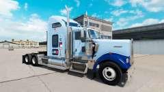 Pele UNC Tarheel v1.01 no caminhão Kenworth W900 para American Truck Simulator