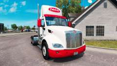 Simples, com a pele para o caminhão Peterbilt para American Truck Simulator