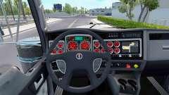 A cor vermelha dispositivos têm um Kenworth W900 para American Truck Simulator
