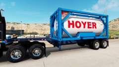Semi-reboque-o recipiente de caminhão com tanque contentor para American Truck Simulator