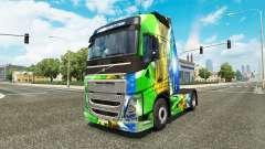 Brasil 2014 pele v3.0 para a Volvo caminhões para Euro Truck Simulator 2