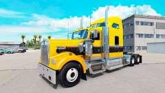 A pele de Ouro Preto no caminhão Kenworth W900 para American Truck Simulator