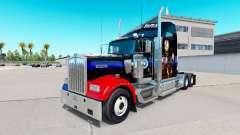 Pele Guerra Civil para o caminhão Kenworth W900 para American Truck Simulator