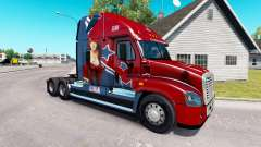 Pele Mandy no trator Freightliner Cascadia para American Truck Simulator