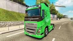 A Seta verde da pele para a Volvo caminhões para Euro Truck Simulator 2