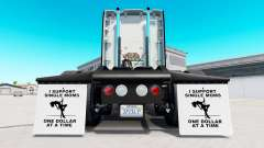 Guarda-lamas eu Apoio a Mães solteiras v1.5 para American Truck Simulator