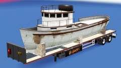 Semi-reboque-plataforma com cargas diferentes. para American Truck Simulator