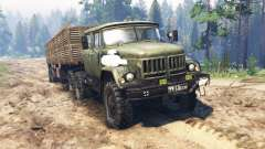 ZIL-131 [cabine dupla] para Spin Tires