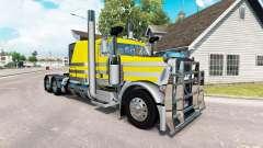 Скин Prateado, amarelo metalizado на Peterbilt 389 para American Truck Simulator