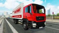 Uma coleção de caminhão de transporte de e para o tráfego de v1.2.1 para Euro Truck Simulator 2