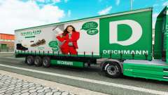 Deichmann pele para engate de reboque para Euro Truck Simulator 2