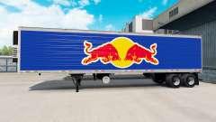 A pele da Red Bull no semi-reboque-geladeira para American Truck Simulator
