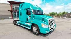 Pele TUM no trator Freightliner Cascadia para American Truck Simulator