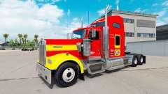 Pele USMC v1.01 no caminhão Kenworth W900 para American Truck Simulator