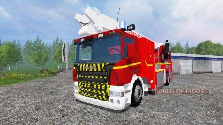 Scania P420 BEA [sapeurs-pompiers] para Farming Simulator 2015
