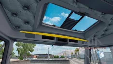 O interior é Amarelo-cinza para Kenworth W900 para American Truck Simulator