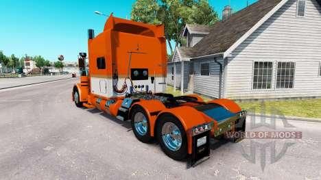 Скин Tri-State Commodities на Peterbilt 389 para American Truck Simulator