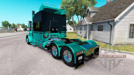 4 Metalizado pele para o caminhão Peterbilt 389 para American Truck Simulator