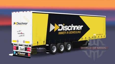 Cortina semi-reboque Schmitz Cargobull Dischner para Euro Truck Simulator 2