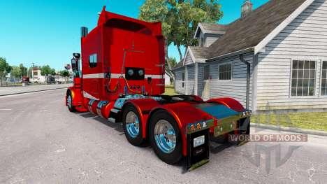 6 Metalizado pele para o caminhão Peterbilt 389 para American Truck Simulator