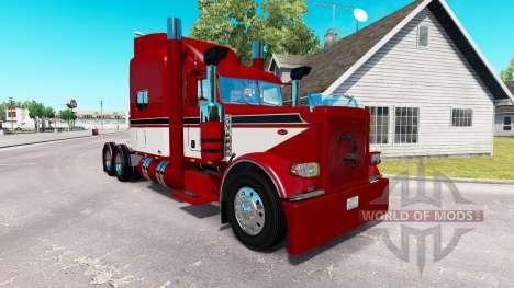 Barão vermelho com a pele para o caminhão Peterb para American Truck Simulator