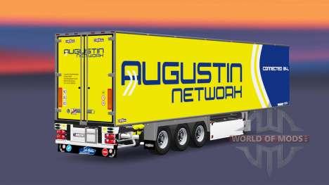 Semi-reboque frigorífico Chereau Augustin Rede para Euro Truck Simulator 2