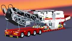 Baixa varrer com uma carga plainas para Euro Truck Simulator 2