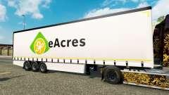 Cortina semi-reboque Krone EuroAcres para Euro Truck Simulator 2