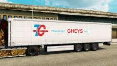 Pele de Transporte Gheys na semi para Euro Truck Simulator 2