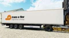 Pele Trans-o-flex caminhão de cargas reefer para Euro Truck Simulator 2
