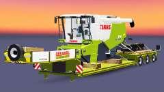 Baixa varrer com uma carga CLAAS Lexion 770 para Euro Truck Simulator 2