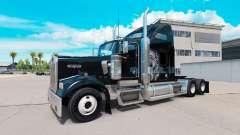 Pele Redskin v1.2 no caminhão Kenworth W900 para American Truck Simulator