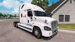 Pele de Carga em um caminhão Freightliner Cascadia para American Truck Simulator