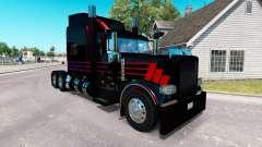 Pele Negra SR no caminhão Peterbilt 389 para American Truck Simulator