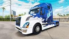 Azul pele de Tubarão para a Volvo caminhões VNL 670 para American Truck Simulator