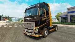 Ouro preto pele para a Volvo caminhões para Euro Truck Simulator 2