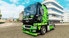 Dragão verde para a pele do HOMEM de caminhão para Euro Truck Simulator 2
