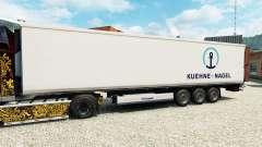 Pele Kuehne & Nagel para o semi-refrigerados para Euro Truck Simulator 2