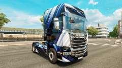 Listras azuis pele para o Scania truck para Euro Truck Simulator 2