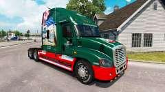 Скин INTERSTATE 80 Anos на Freightliner Cascadia para American Truck Simulator