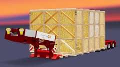 Baixa varrer com os produtos em uma caixa de madeira para Euro Truck Simulator 2