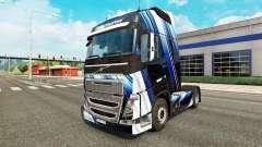 Listras azuis pele para a Volvo caminhões para Euro Truck Simulator 2