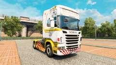A pele de ouro Branco no trator Scania para Euro Truck Simulator 2