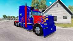 Pele Optimus Prime v2.0 trator Peterbilt 389 para American Truck Simulator