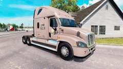 Скин KLLM de Transporte на Freightliner Cascadia para American Truck Simulator